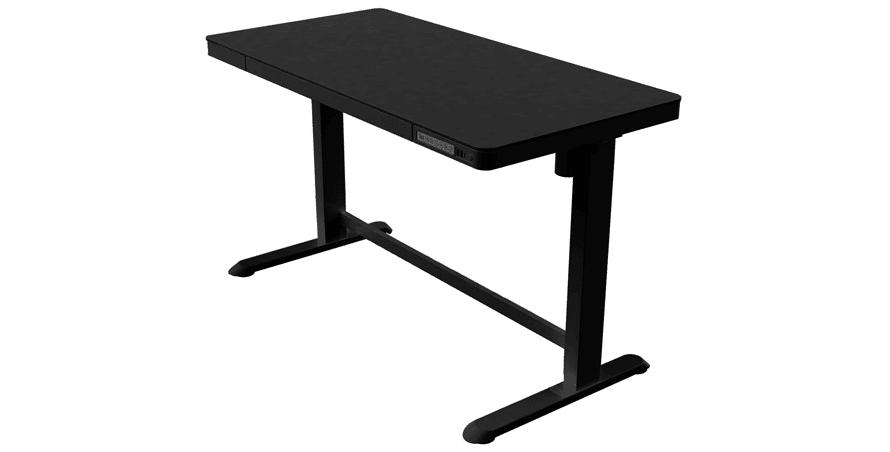 Allcam ED20 Electric Height Adjustable Standing Desk, Black - standing desks with drawers