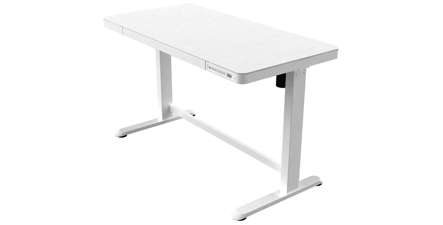 Allcam ED20 Electric Height Adjustable Standing Desk, White - standing desks with drawers