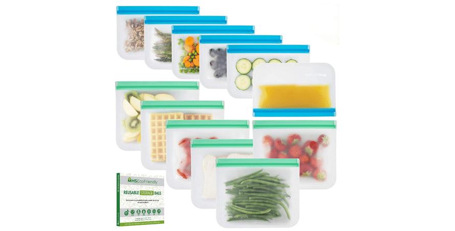 MHSEcoFriendly Reusable Food Storage Bags
